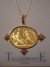 TAGLIAMONTE Necklace YGP/SS+14kt Gold AMBER VENETIAN INTAGLIO**CLEARANCE PRICE