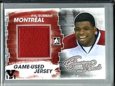 P.K. Subban 11/12 In The Game Forever Rivals Game Used Jersey #1/1
