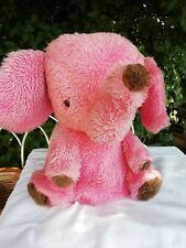 Vintage 1970's Chad Valley Chiltern Pink Elephant  Pyjama Nightdress Case
