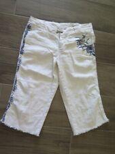 DA NANG White Cotton Long  Shorts Embroidery W32