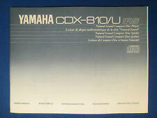 YAMAHA CDX-810 CD OWNERS MANUAL FACTORY ORIGINAL