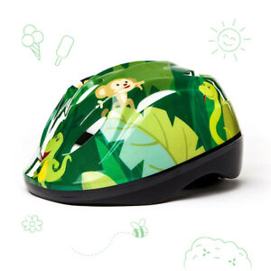 3StyleScooters® Cycle Helmet - Kids Jungle Fun Safety Helmet - Ages 5 to 8