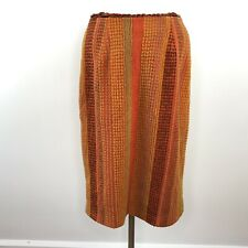 Anthropologie Anna Sui Sample Orange Brown Fall Skirt  |  Womens 6