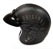 Viper Rs-05 Slim Fit Open Face Scooter Motorcycle Mod Retro Helmet - Route 66 M 130