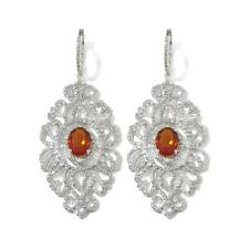 & Diamond Silver Earrings Hsn $449 Rarities Carol Brodie 2.79 Ct Madeira Citrine