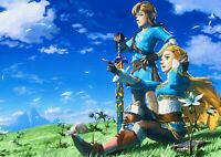 The Legend Of Zelda Poster Art Print Giant A0 to A5 Small Sizes