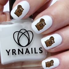 Nail WRAPS Nail Art Water Transfers Decals - Colour Beaver - S471