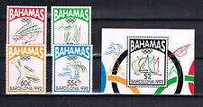 Bahamas 1992 Satz 783/86 + Bl.67 Olympics schon Postfrisch