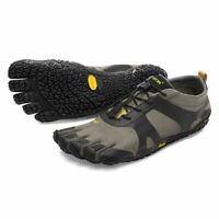 MENS VIBRAM V-ALPHA SHOES Grey / Black Toe Runners Trail Hiking Toes