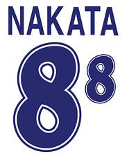 Japan Nakata Nameset 1998 Shirt Soccer Number Letter Heat Print Football Away