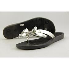 Calzado de mujer sandalias con tiras de color principal plata talla 36