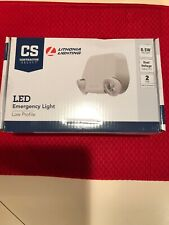 Lithonia Thermoplastic LED Dual Lamp Head Emergency Light EU2L M12 New Free Ship
