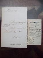 1884 271) LETTERA DEL COMPOSITORE SETTIMIO BARLESI DA CALDAROLA NEL MACERATESE