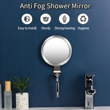 Suction Cup Anti-Fog Bathroom Shower Makeup Bath Mirror Fogless w/ Razor Holder