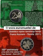 Slowenien 2 Euro Gedenkmünze  2011 - 100. Geb. Franc Rozman - bu. Coincard
