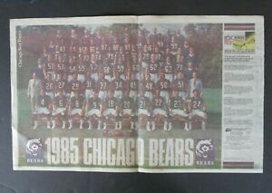 Chicago Sun-Times Newspaper 1985 Chicago Bears Team Picture