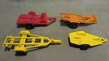 1970s antique vintage TootsieToy lot of 4 pull behind trailers