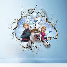 XXL 3D Sticker Eiskönigin Frozen Anna Kristoff Olaf Wandtattoo Geschenk 60х60