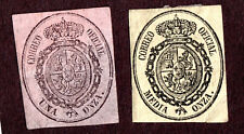 Spain O5 (1/20 o, yellow) & O6 (1o, Rose)  Unused