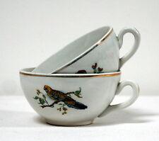 """2 tasses anciennes aux """"oiseaux"""""""
