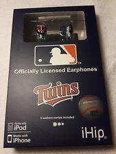 New MLB Baseball Minnesota Twins IHIP Ear buds Earphones
