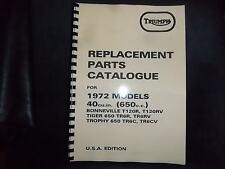 TRIUMPH  T120R TR6R TR6C PARTS BOOK MANUAL 1972 - TP42 99-0953 USA MODELS