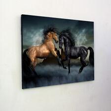 Gold Vs Black Horse Wooden Wall Art - Wall Hanging - Modern, Panel Art, Wall Dec