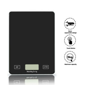 5kg/ 11lbs Digital Kitchen Scale Weighing Sclae Food Weighing Electronic Glass