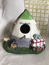 Birdhouse Outdoor Tent- Camping Chic Hanging Garden Décor