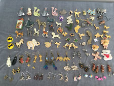 Vintage Modern 77 Price Estate Mixed Jewelry Lot Cats Horses Birds Turtles