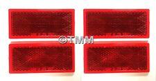 (4) Stick-On RED REFLECTORS Safety Alert for Boat Camper Utility Trailer Dock RV
