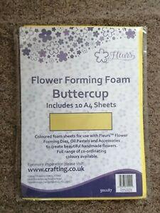Fleurs Flower Forming Foam Buttercup 10 x A4 Sheets For Handmade Flowers