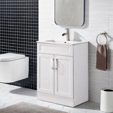 """24"""" White Bathroom Vanity & Vessel Sink Cabinet Combo Free-standing Floor"""