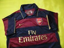 5/5 ARSENAL LONDON 2007/2008 ORIGINAL FOOTBALL THIRD SHIRT JERSEY TRIKOT NIKE