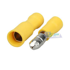 40 Yellow Male/Female Bullet Electrical Wire Connector Insulated Crimp Terminal