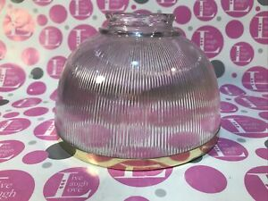 1 CLEAR Glass W/BRASS RIM Ceiling Light bulb shades/cover