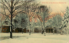 Vintage Postcard Winter View Of Diamond Meadville PA Crawford County H.H. Hamm