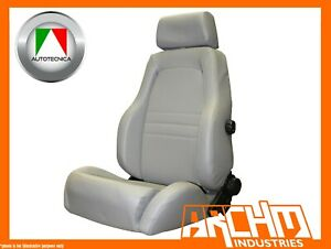 AUTOTECNICA - ADVENTURER 4X4 OUTBACK SEAT PU LEATHER GREY - RECLINABLE ADR