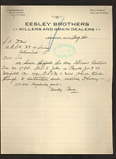 Eesley Brothers (millers & grain dealers) * 1907 railroad letter * Lebanon, Ohio