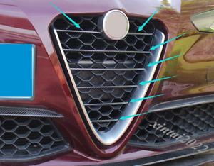 7P Carbon Fiber Front Center Grille Grill Cover Trim For Alfa Romeo Giulia 17-19