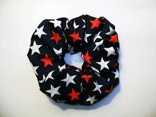 NEW FABRIC SCRUNCHIES * Patriotic - 4th of July * Handmade USA * FREE SHIPPING B