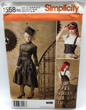 Simplicity Sewing Pattern Steampunk Costume 1558 R5 Size 14-22
