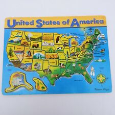 Frame Tray Puzzle Melissa And Doug USA Map Jigsaw Puzzle 3797