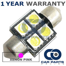 1X PINK CANBUS NUMBER PLATE INTERIOR 4 SUPER BRIGHT SMD LED BULBS 30MM 11PX1