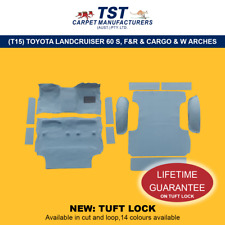 MOULDED CAR CARPET (T15K)TOYOTA LANDCRUISER 60 SERIES F&R & CARGO & WHEEL ARCHES