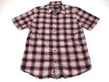 The North Face Shirt Mens Large L Orange Blue Plaid Button Up Dress Camping