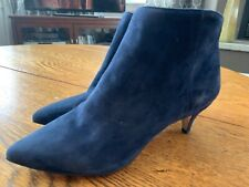 Sam Edelman Petty Women's Size 7 Blue Suede Zip Up Ankle Booties