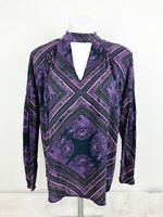 Free People Walking On A Dream Purple Patterned Tunic Top Size XS OB618347