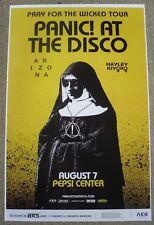 PANIC AT THE DISCO! 2018 Pepsi Center - Denver, Colorado Promo Concert Poster