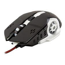 WHITE SHARK GAMING GM-1801 Leonidas 3200dpi Gaming Mouse, Black/White (LEONIDAS)